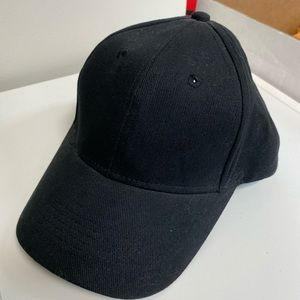 Anvil Black Baseball Hat w/ Buckle